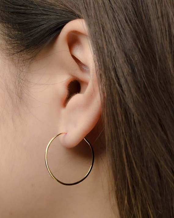 bde2fdce3 Hoop Earrings, Sterling Silver, Gold Filled, EAR004 in 2019 | Gold ...