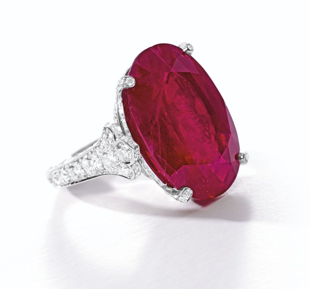 b7a11a40ed11f The 29.62-carat Burmese ruby ring by Cartier.