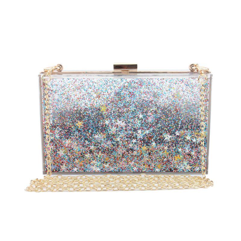 Acrylic Handbag Womens Purse Shoulder Crossbody Evening Bags Clutch Wallet Pink
