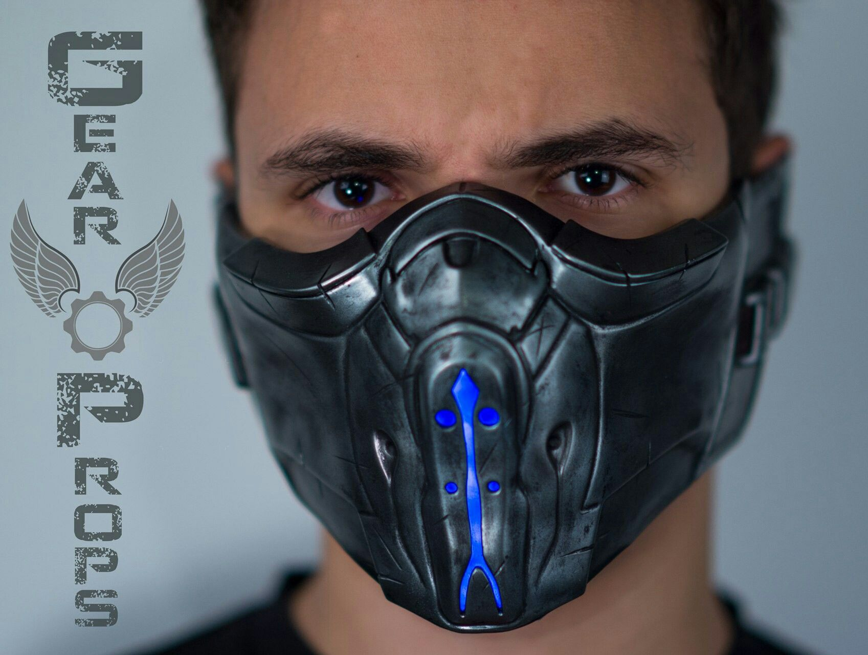 Sub Zero X Mask Mortal Kombat X Finished Piece Raw Resin Kit