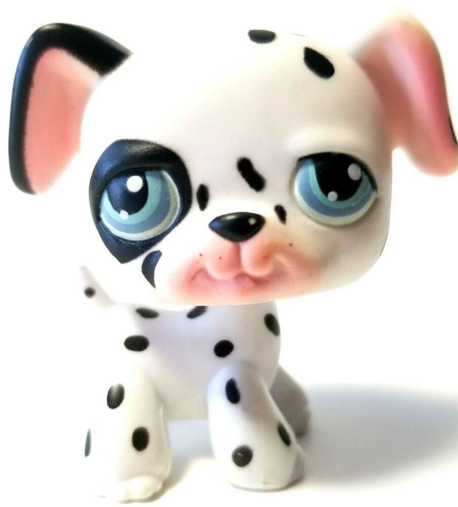 Lps Littlest Pet Shop Toy 2004 Dalmatian Puppy Dog 44 Spotted Blue