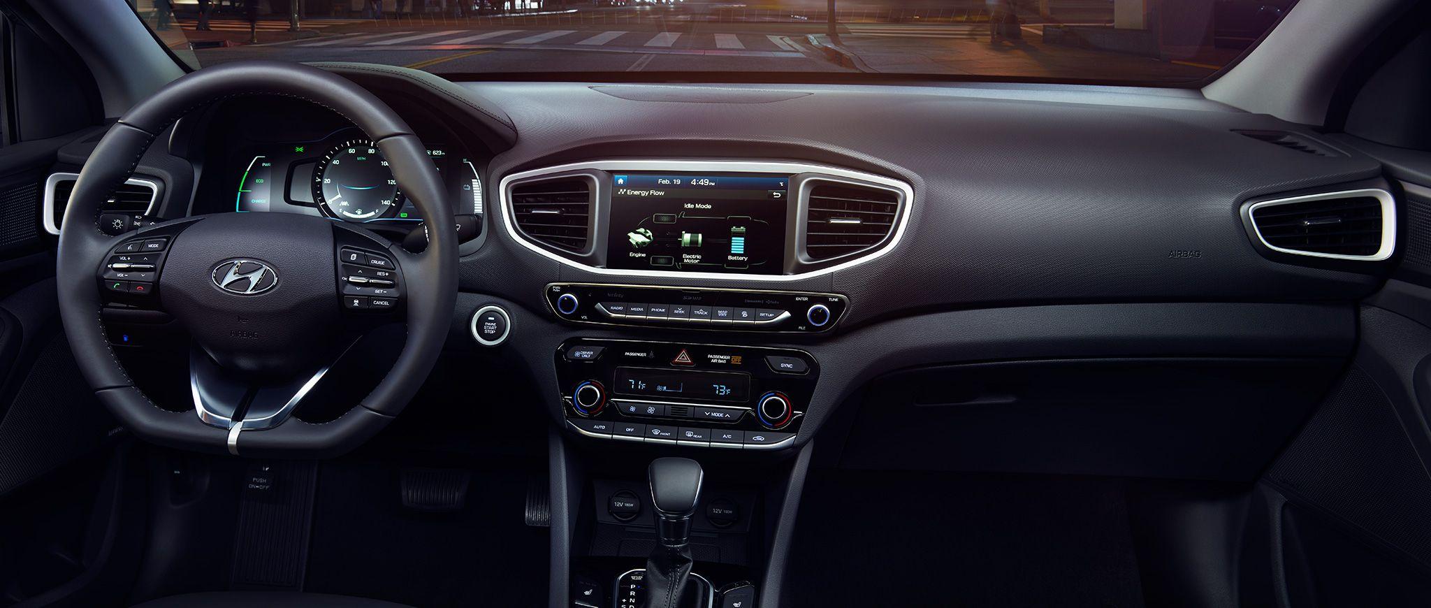 Hyundai Ioniq Hybrid Ev Black Interior Hyundai Most Fuel Efficient Cars Fuel Efficient Cars