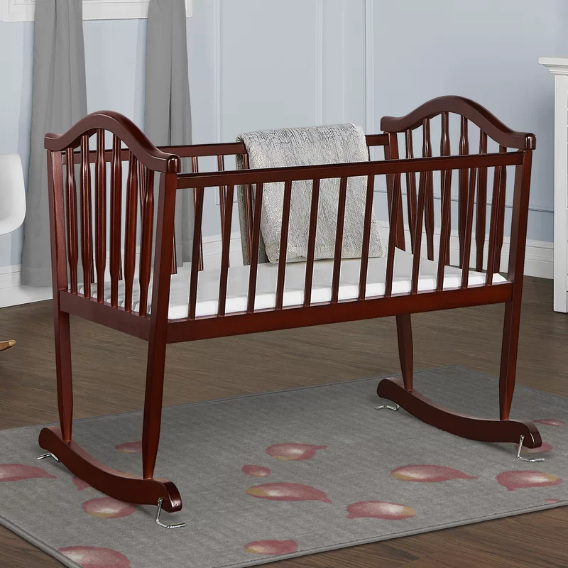 Rocking Cradle With Mattress In 2021, Dream On Me Cradle Bedding
