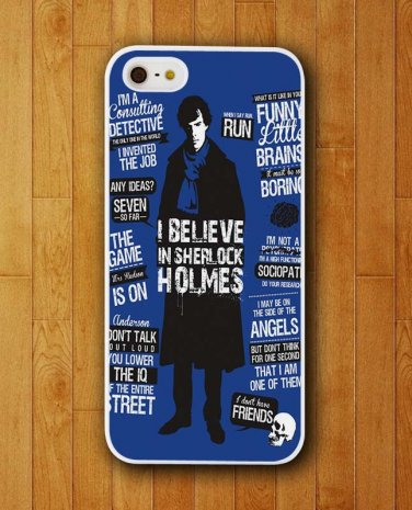 Sherlock Holmes Quote I Believe iPhone Skin Protector for iPhone 4 4S 5 5S 5C http://www.myicover.nl #iphone cover