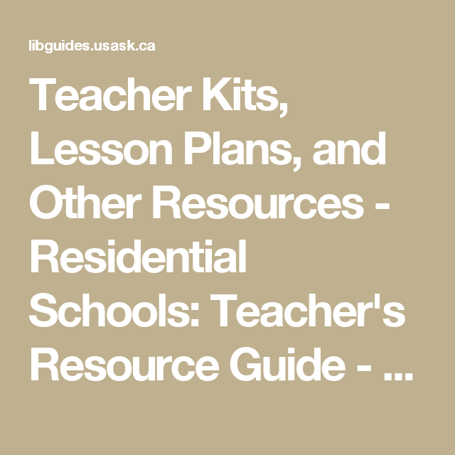 Teacher Kits  Lesson Plans  And Other Resources