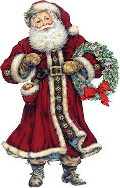 Old Fashioned Santa Claus Clip Art Google Search Christmas Clipart Christmas Prints Victorian Santa