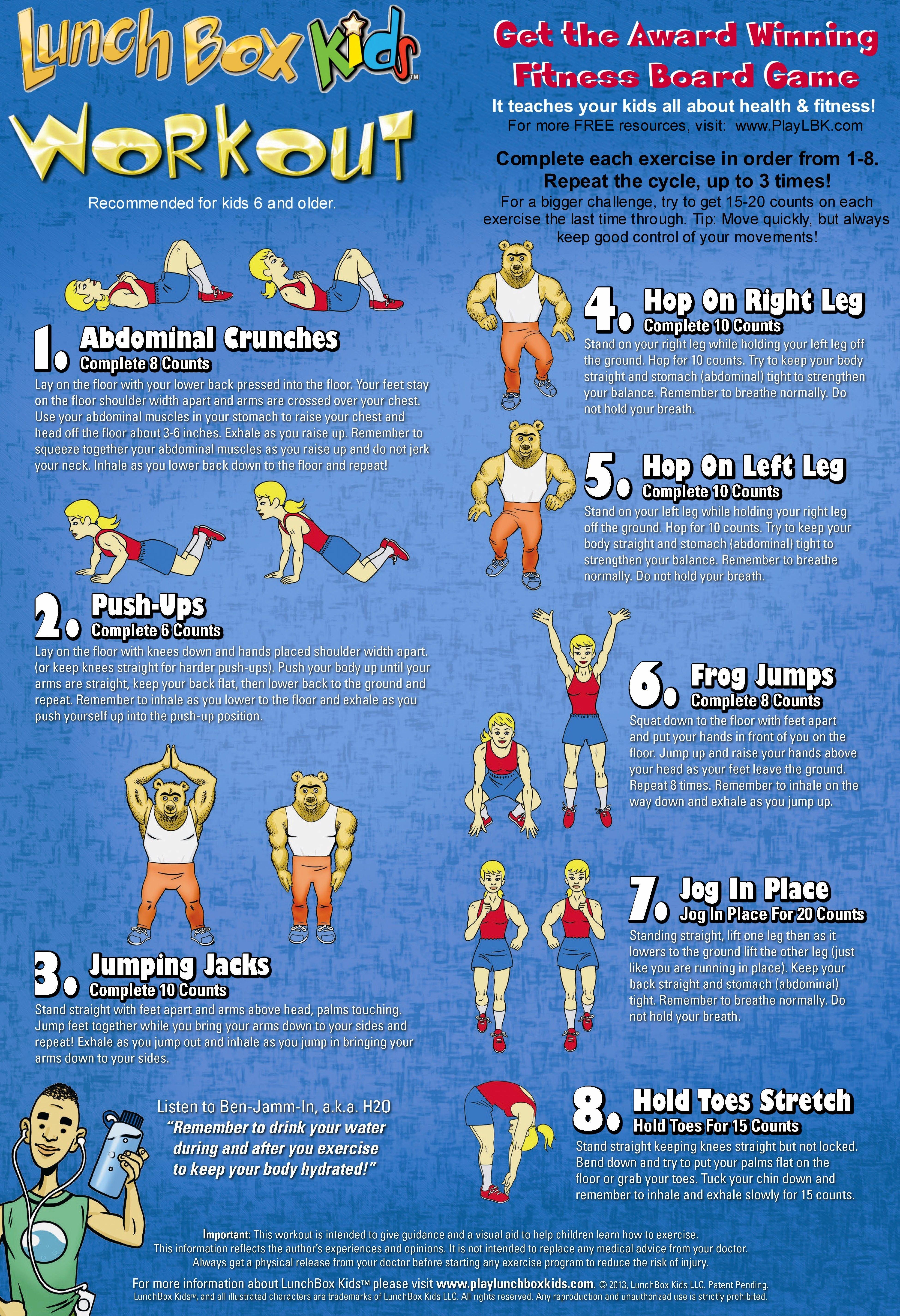 Kids Workout Poster