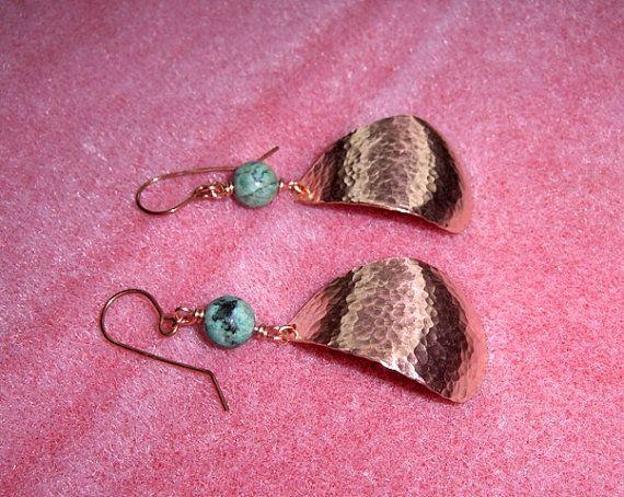 Turquoise Tears Earrings by SnazzyTrinkets on Etsy