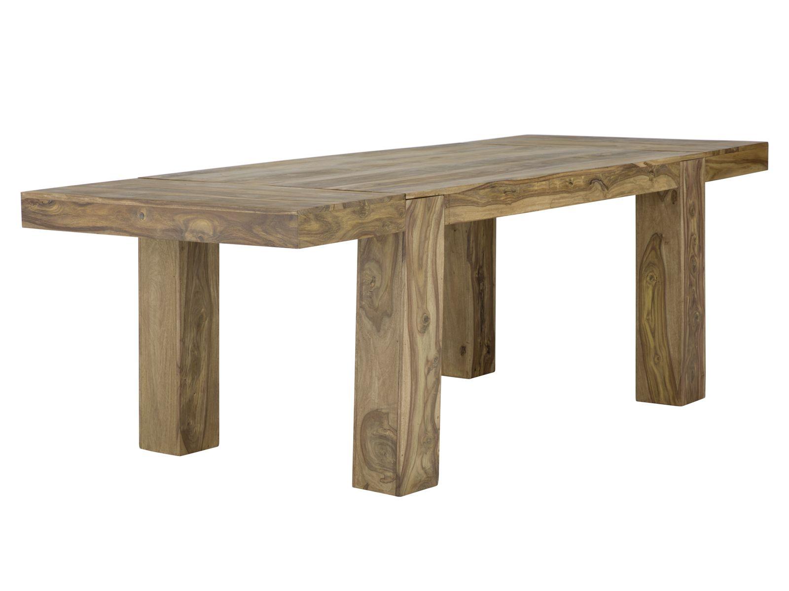 Table Stark Avec Rallonges Palissandre Teck Pour Sejour Massivum Meuble Bois Massif Meuble Table Salle A Manger
