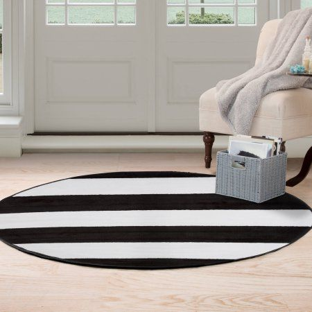 Somerset Home Stylized 5 Round Area Rug Area Rugs White Area