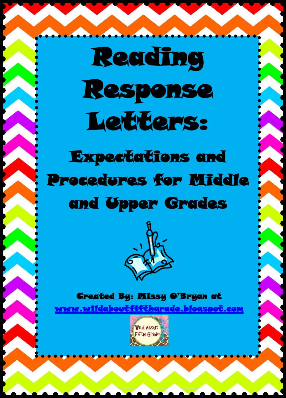 Reading Response Letters Pdf  Reading    Homework