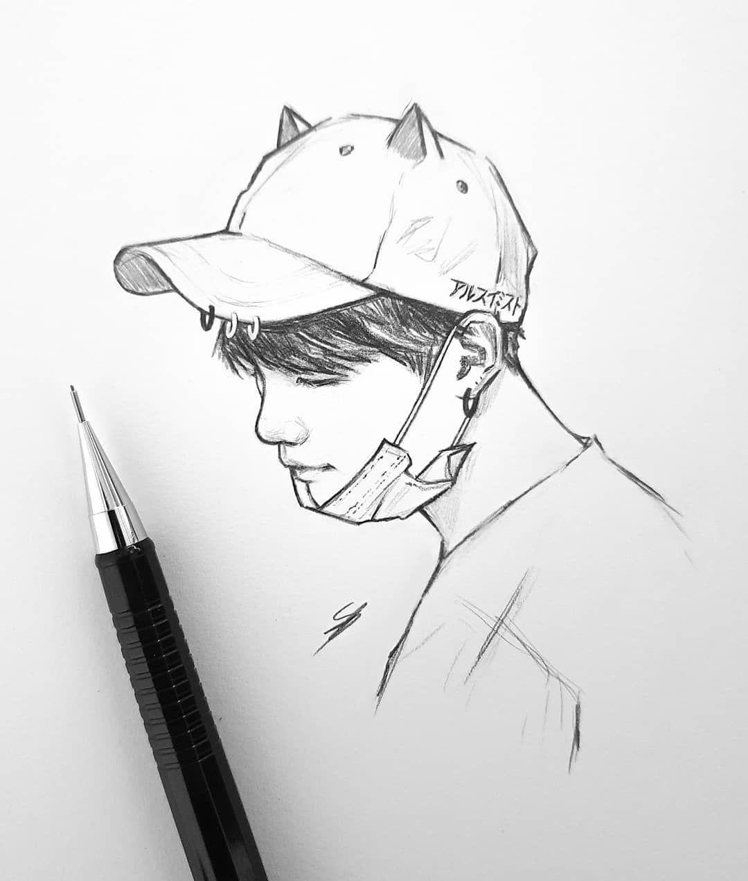 Mmwaaah Bts Hoseok Kpop Drawings Bts Drawings Drawings