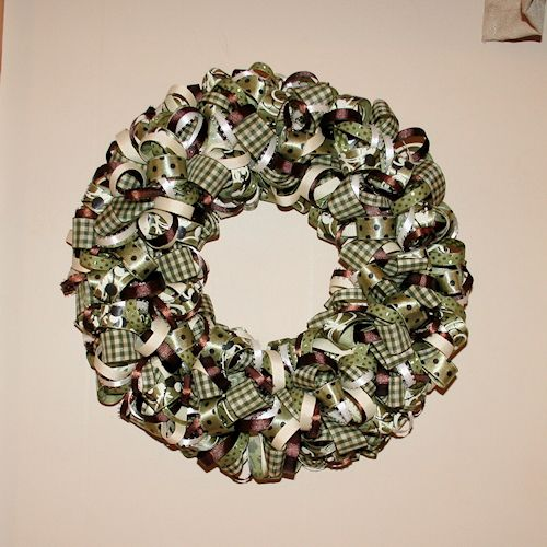 Make a Unique Ribbon Wreath with This Step-by-Step Guide: Finishing Your Ribbon Wreath