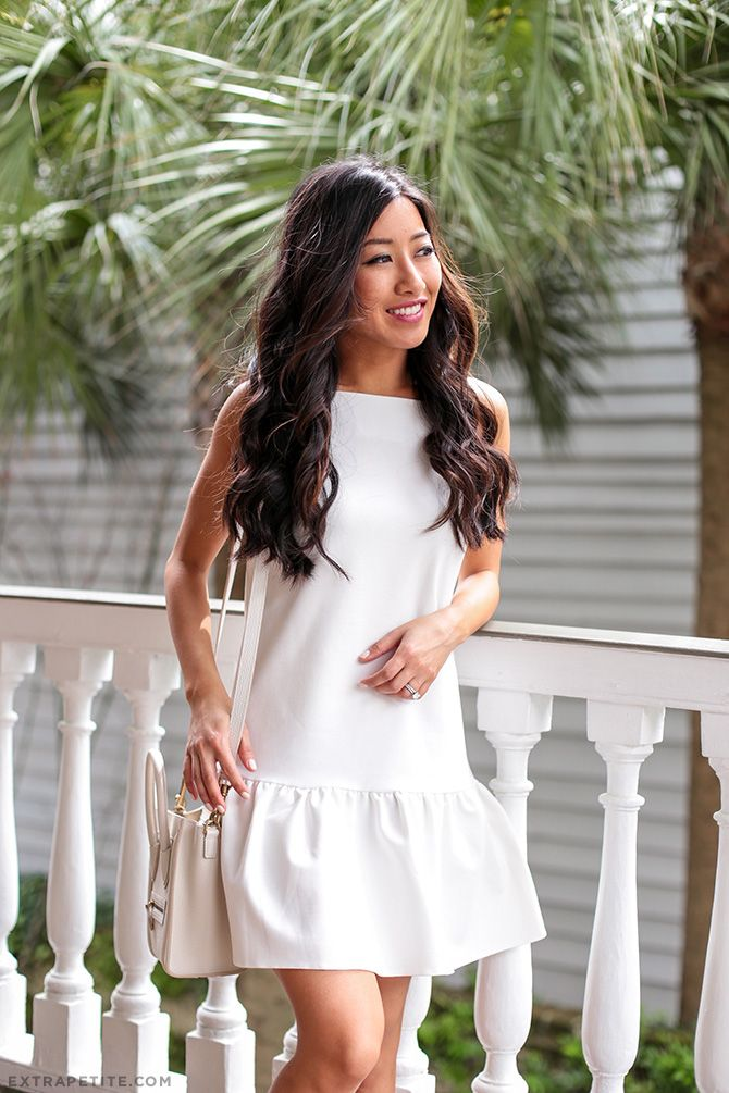 Drop Waist Ruffle Dress