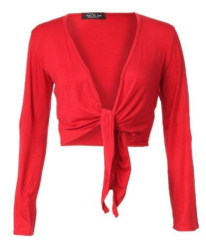 Forever Womens Plain Long Full Sleeves Front Tie Knot Shrug Stretchy Cardigan Top, http://www.amazon.com/dp/B00L20PQRE/ref=cm_sw_r_pi_awdl_L9W1ub1Z8S1X7