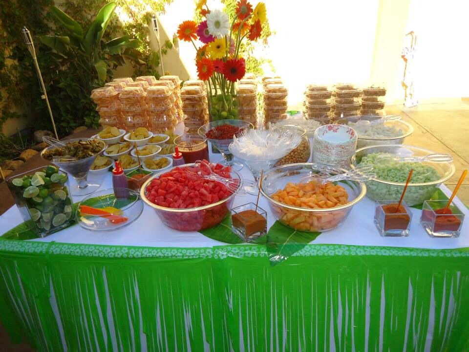 Mexican Snack Bar Table Entertaining Mexican Party