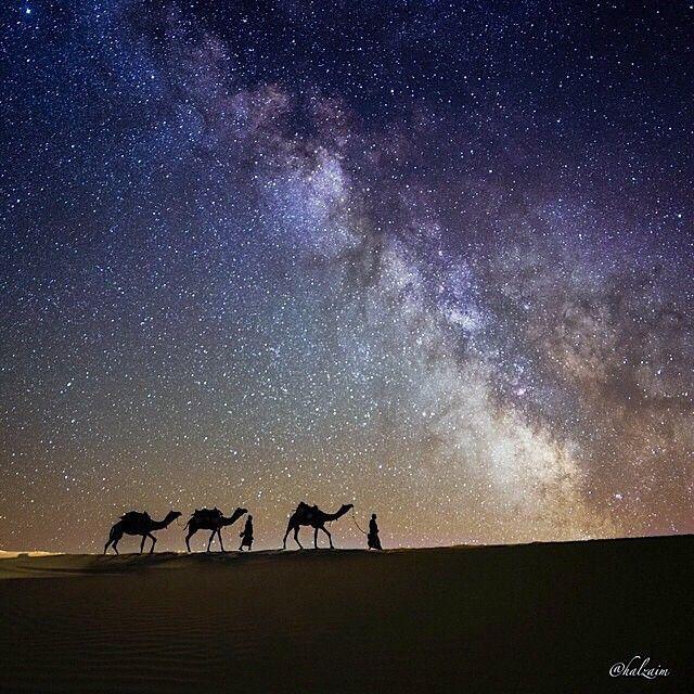 Al Muzahimiyah, Saudi Arabia, Desert, Stars, Universe