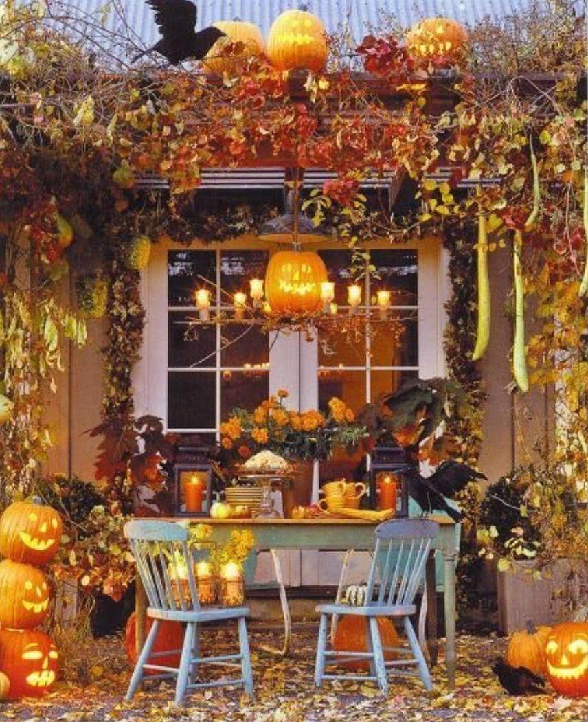 Halloween porch aesthetics Pinterest Halloween porch and Porch - halloween house decoration ideas