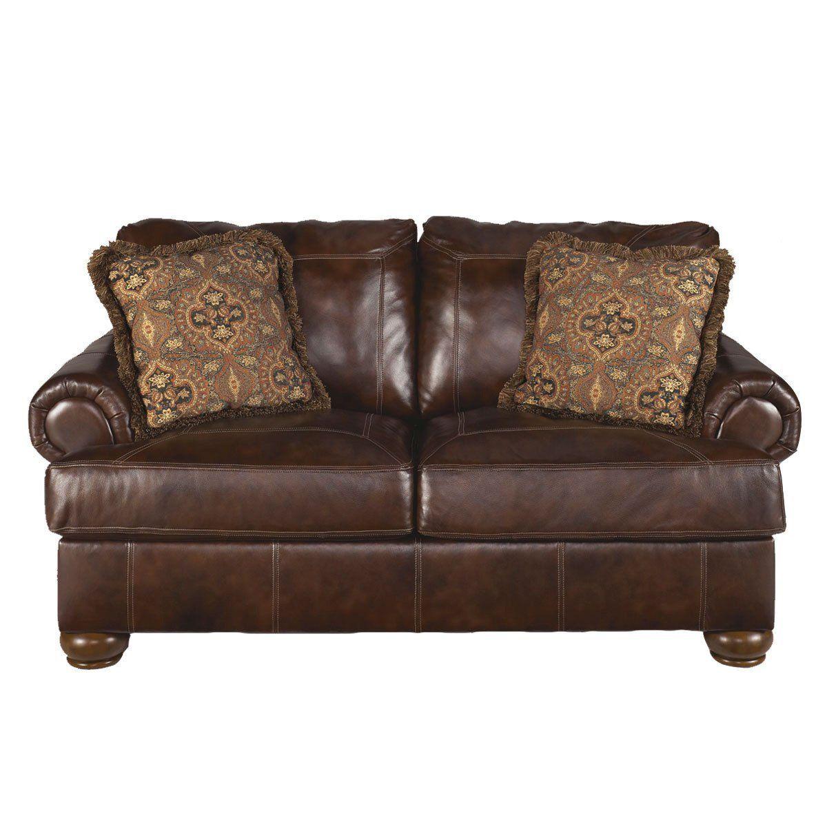 Axiom loveseat rustic living room furniture ashley