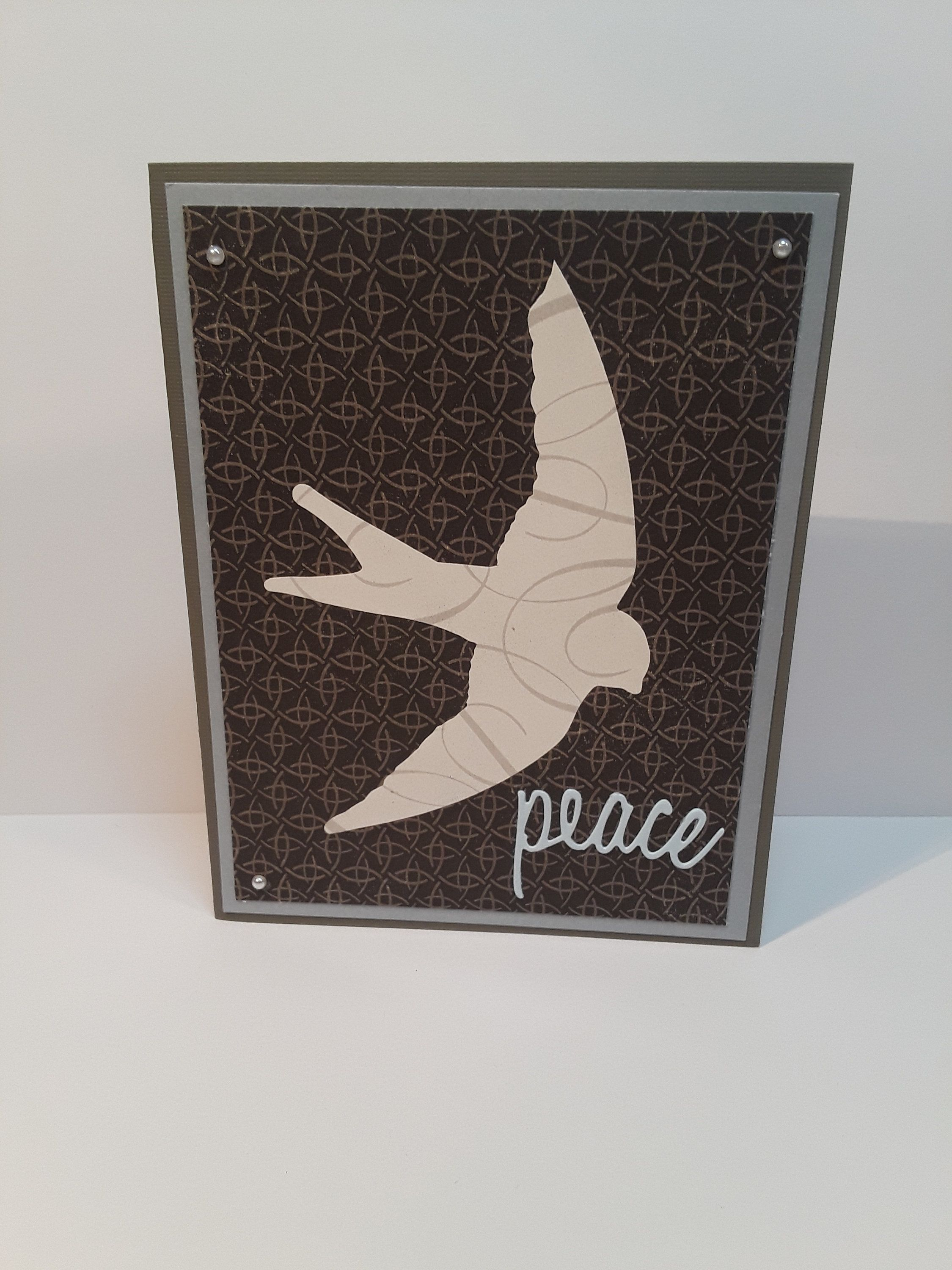 Handmade greeting card thinking of you hello friendship peace