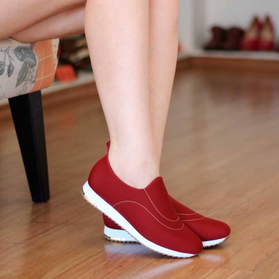 1fae47977 Tênis Feminino Lycra Usaflex Neoprene Para Diabéticos   Footwear in ...