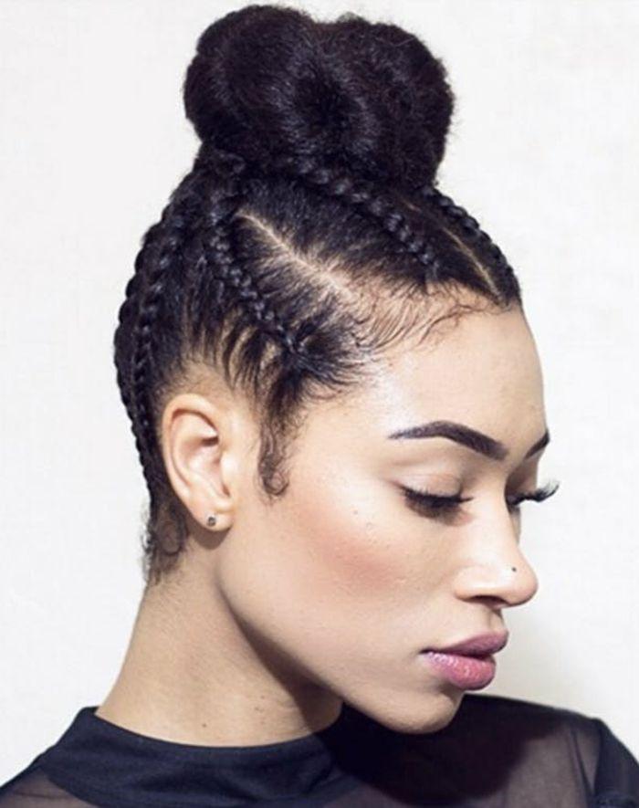 1001 tutoriels et id es comment faire une tresse soi m me comment faire coiffure natte et - Comment faire deux tresse africaine ...