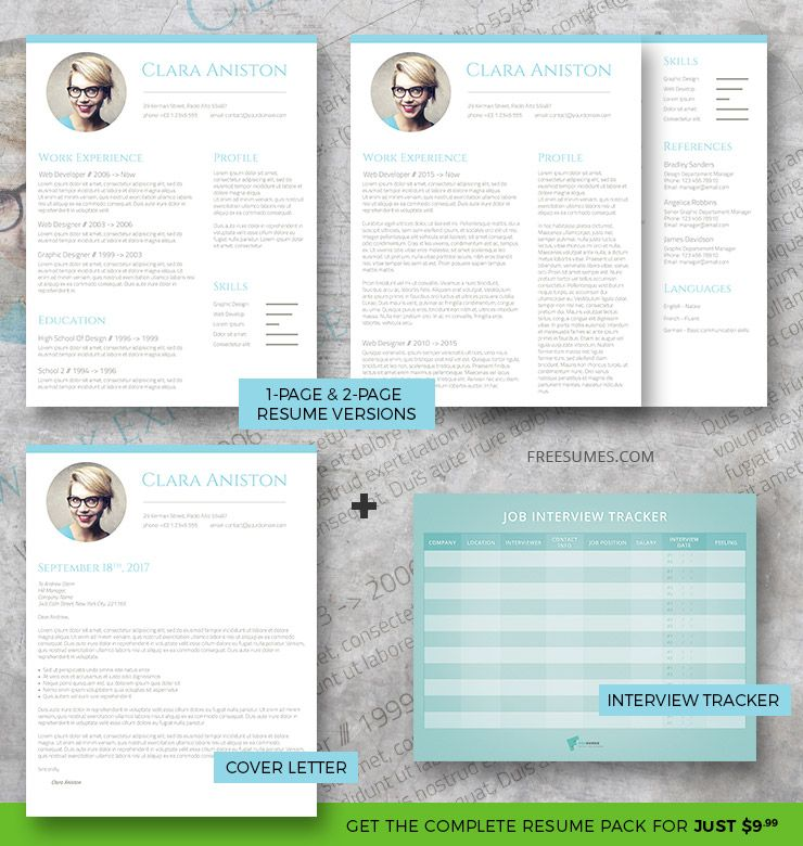 Simple Snapshot Complete Resume Pack Creative resume templates - complete resume