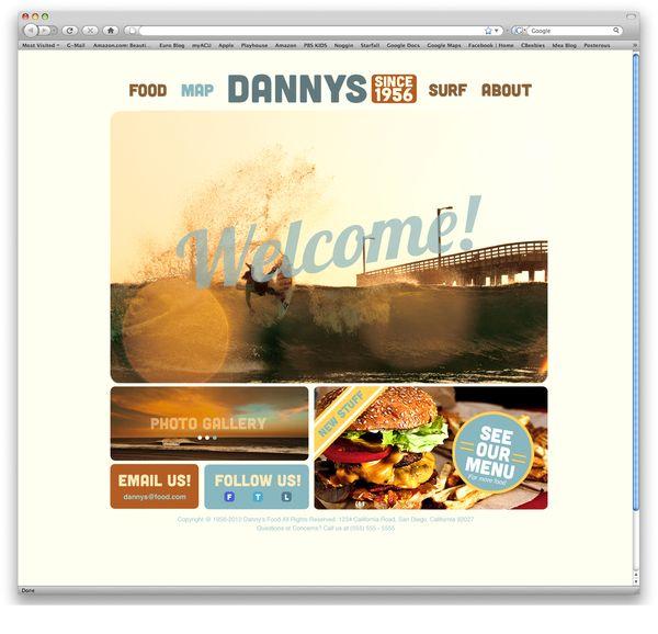 Restaurant Website Danny S Surf Shack By Evan Marks Via Behance