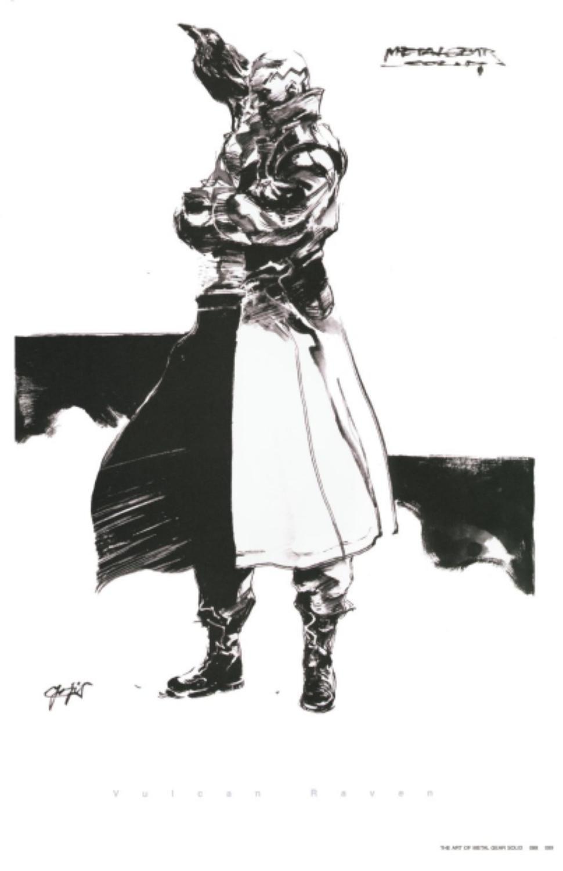 Metal Gear Solid Concept Art - Vulcan Raven Concept Art