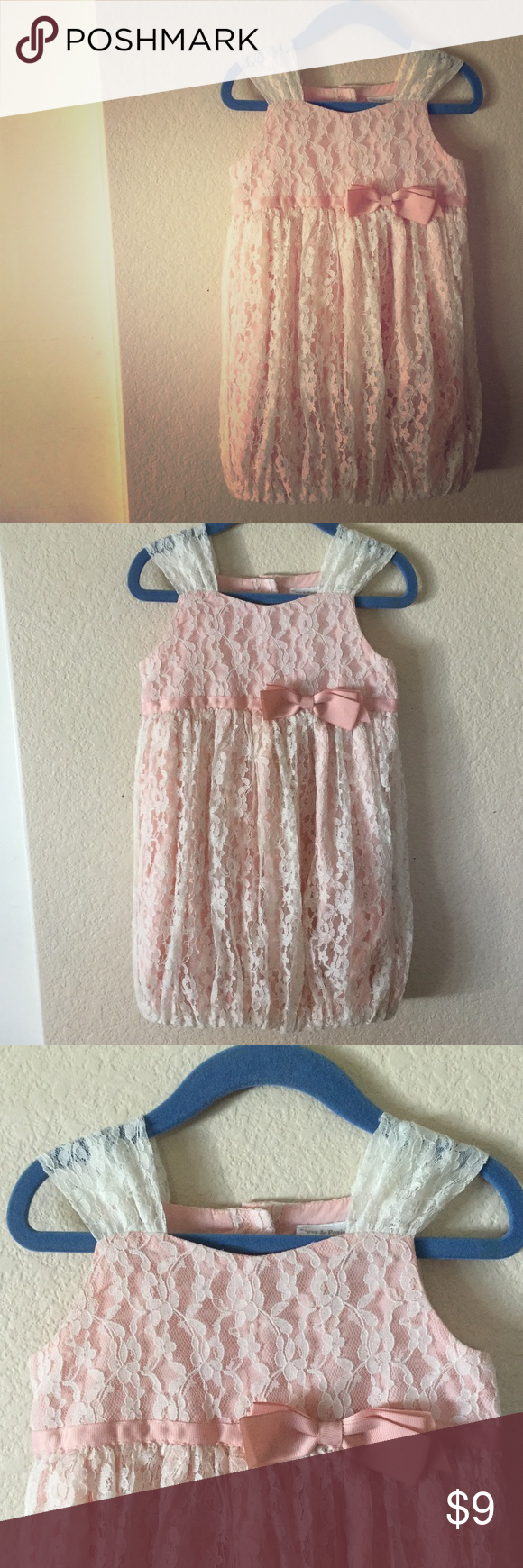 Piper Posie Lacey Pink Ivory Dress 3t Ivory Dresses