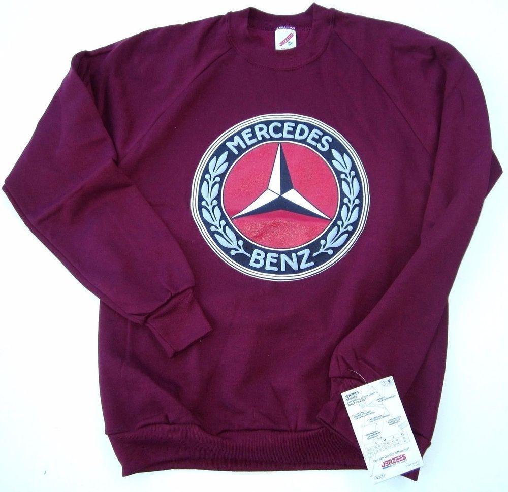 Vtg Mercedes Benz 80 S German Auto Luxury Sport Car Medium Sweatshirt Crew Neck