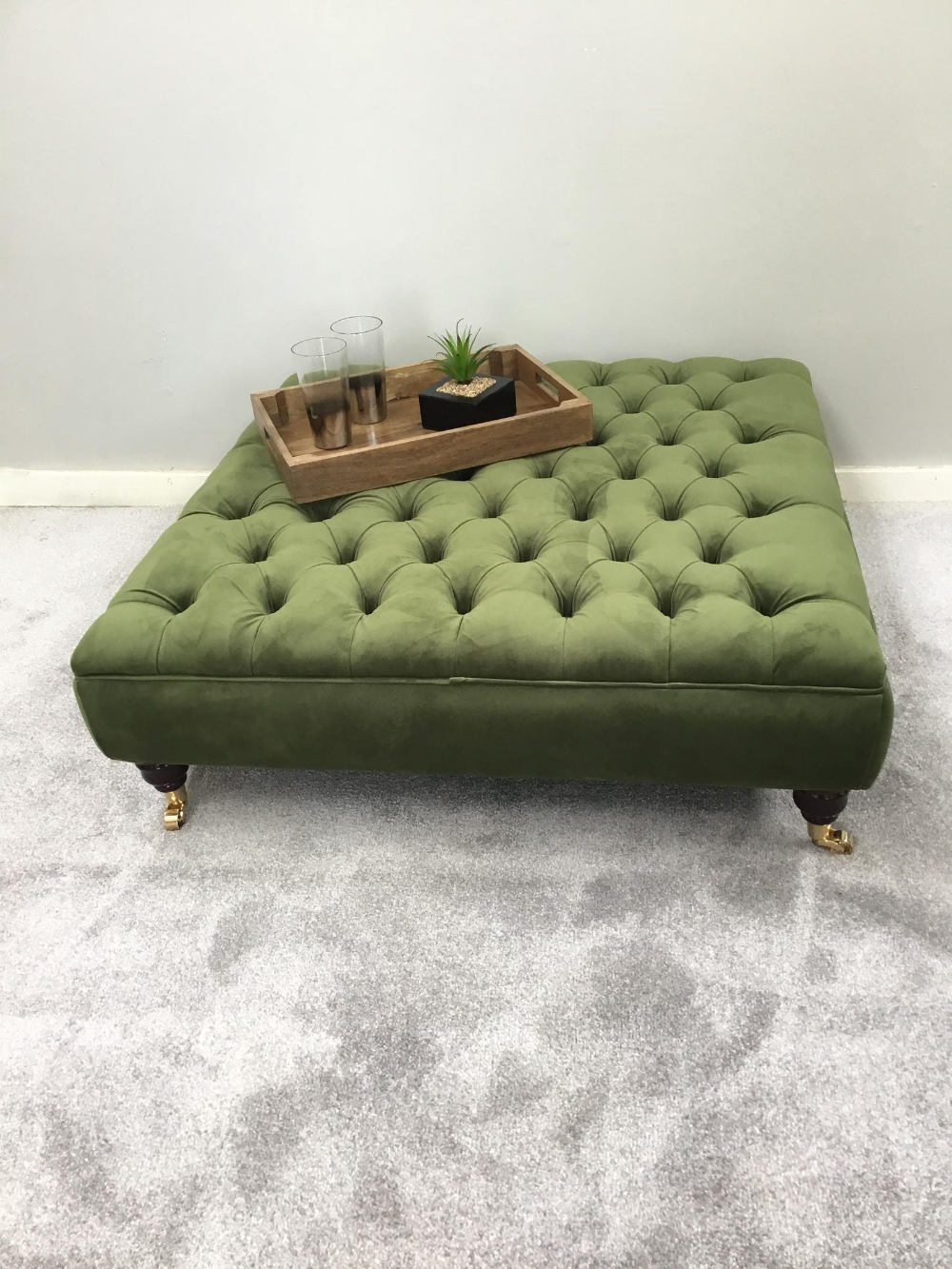 Extra Large Vine Green Footstool Coffee Table Ottoman Etsy Footstool Coffee Table Ottoman Table Large Ottoman Coffee Table [ 1333 x 1000 Pixel ]