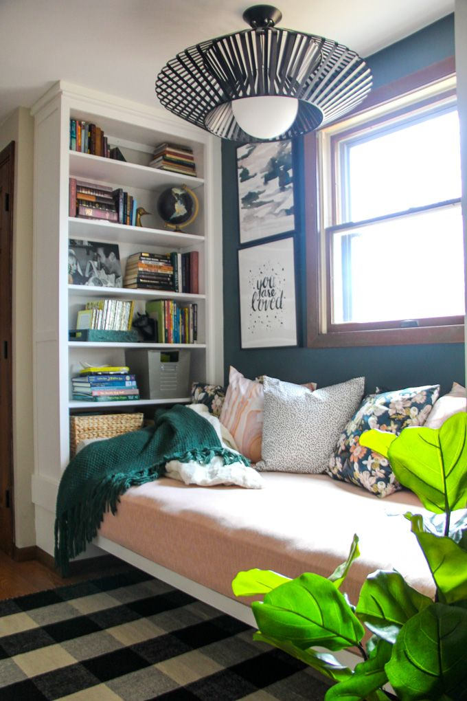 Reading Nook With Built In Bookshelves Built In Daybed Bookshelves In Bedroom Small Room Bedroom