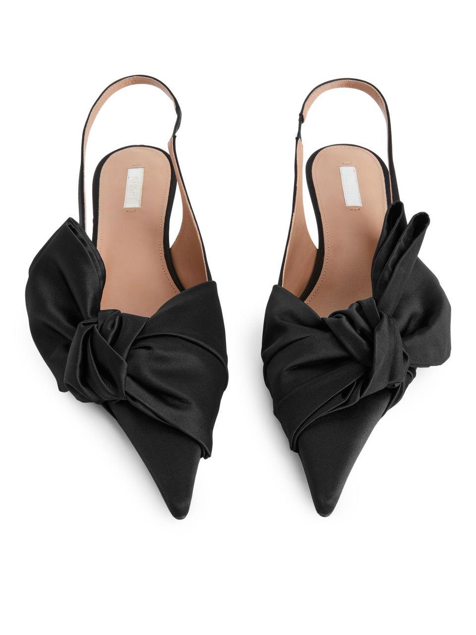 Slingback Kitten Heel Pumps Black Shoes Arket Ww In 2020