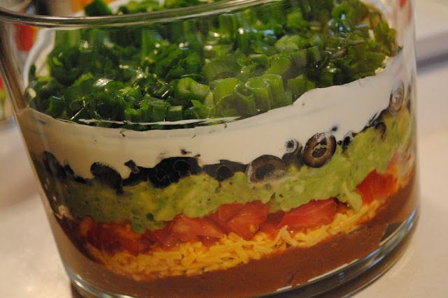 7 layer dip for game days