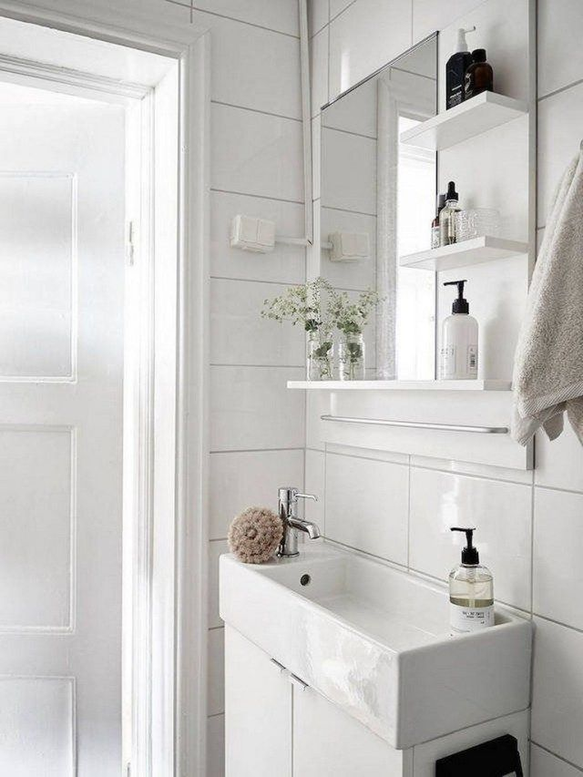 35 Awesome And Simple Bathroom Designs For Small Spaces #simplebathroomdesigns