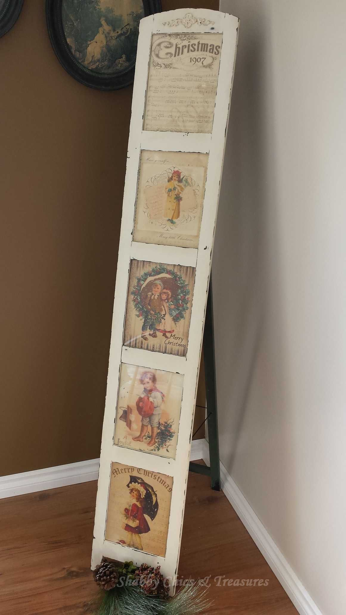 Repurposed Stand up Shabby Chic Photo Frame - Who hasn\'t seen one of ...