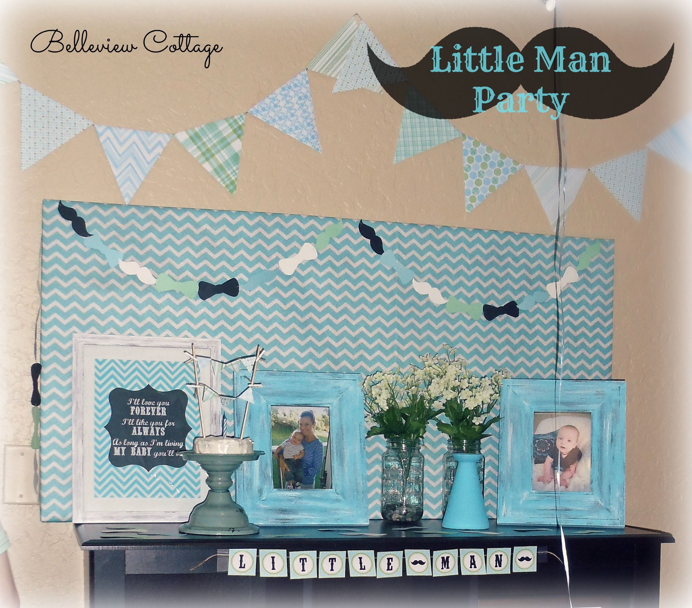 Little Man First Birthday Party Men party and Birthdays
