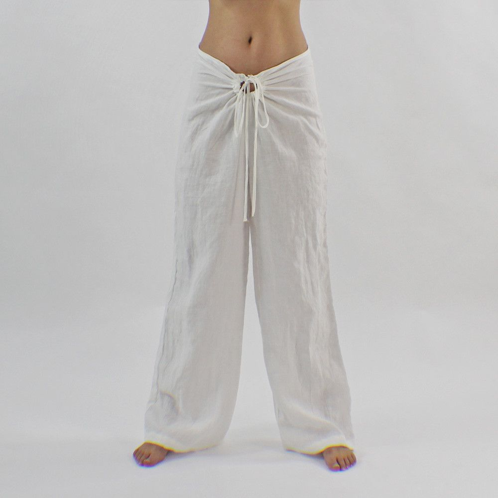 Casual Soft Linen Lounge Pants with Drawstring | The o'jays, For ...