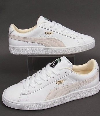 best loved 995e5 7dfd5 New Mens Puma Basket Classic Leather Trainers Size 10 ...