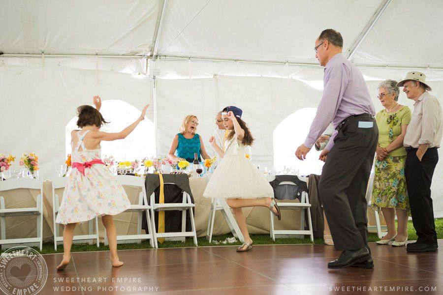 Little girls dancing at the wedding reception. Jewish wedding Cottage wedding Tent wedding & Little girls dancing at the wedding reception. Jewish wedding ...