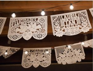 Awesome Custom In Stock Hand Cut Paper Papel Picado Banners Banderitas For Weddings Vintage Mexican WeddingMexican Themed WeddingsWedding