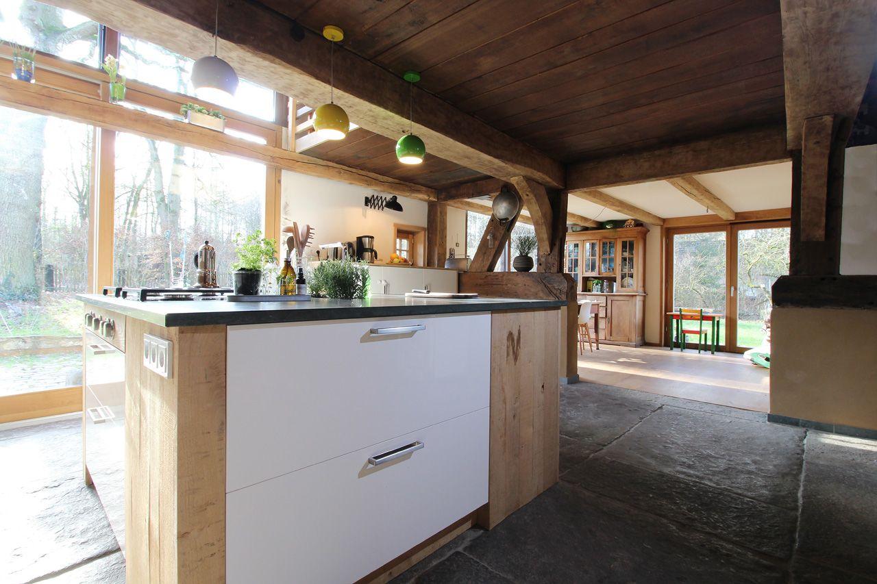 Kochinsel Kuchenblock Weiss Mit Eiche Landhaus Deele Fachwerk