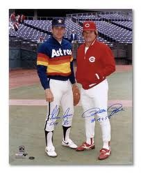 two of my favorite MLB players!! Pete Rose and Nolan Ryan.