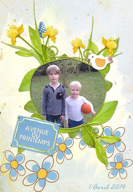 Digiscrap Printemps Jardin Fleur