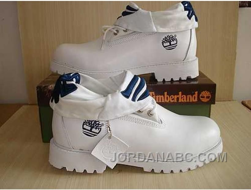 timberland roll top white boots