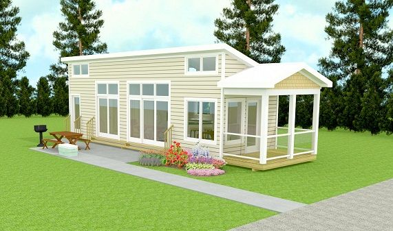 Arcadia-luxury-tiny-home-park-model-3d-render-front