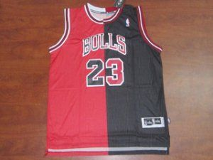 pretty nice 7898c 55d68 Chicago Bulls NBA Shirt #23 Michael Jordan Red/black Split ...