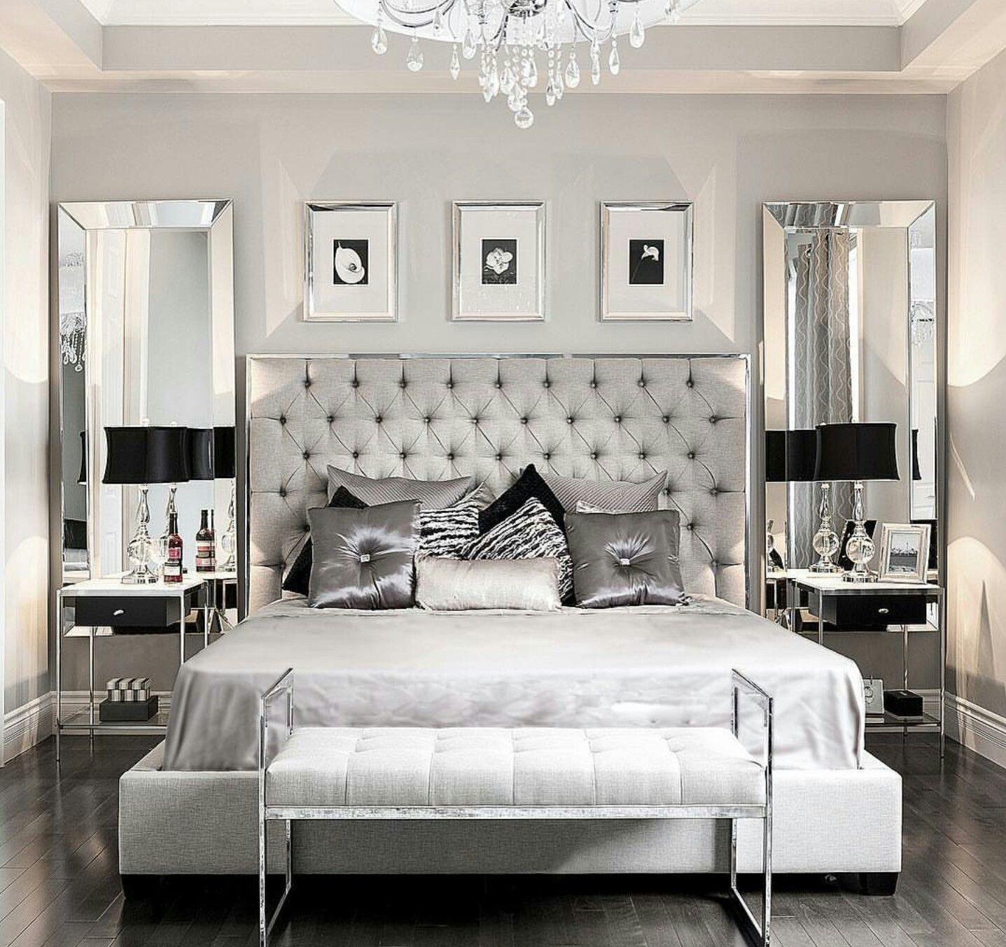Upscale Luxury Master Bedroom  Glamorous bedroom decor