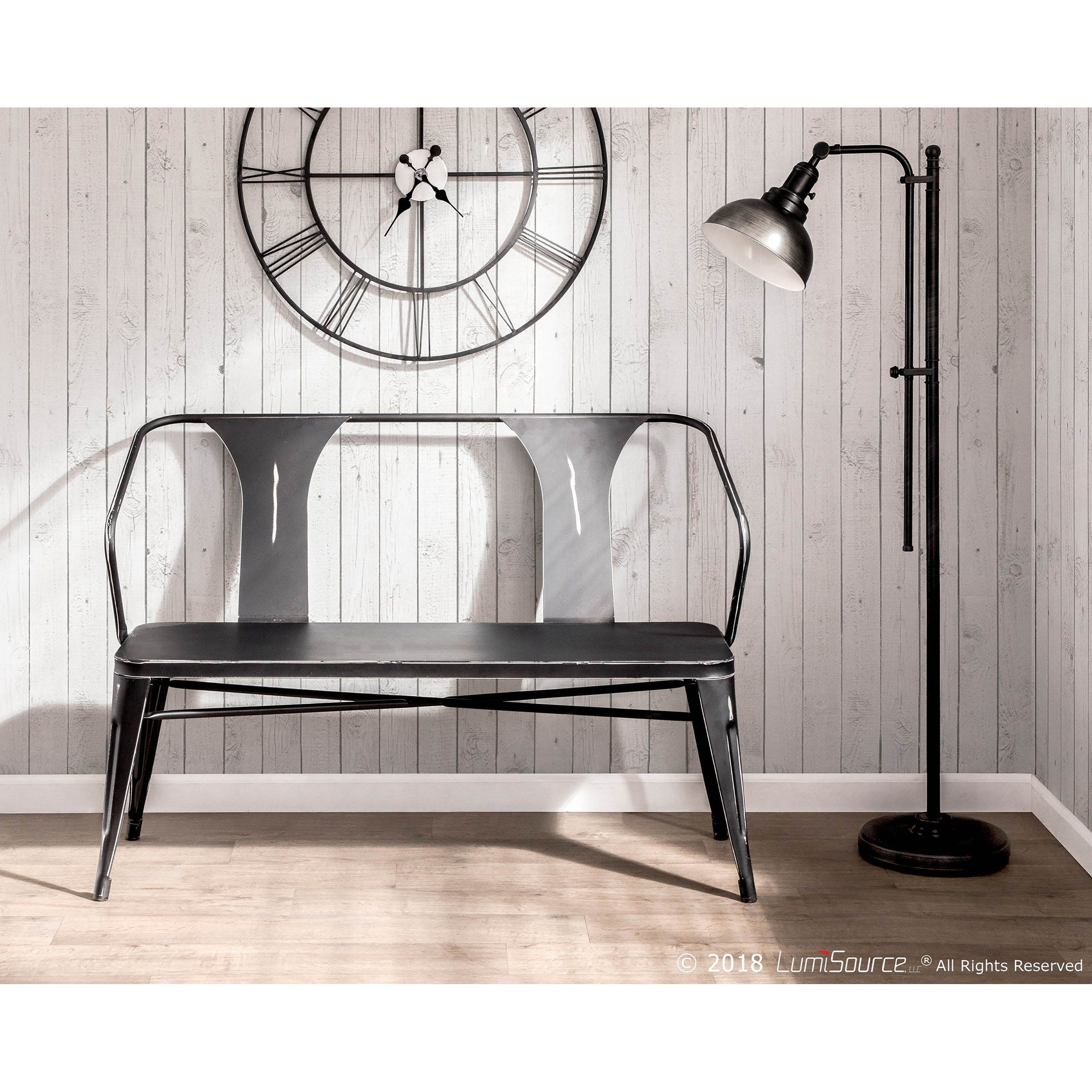 Outstanding Waco Industrial Metal Dining Entryway Bench Vintage Black Caraccident5 Cool Chair Designs And Ideas Caraccident5Info